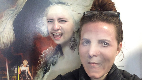 I Figured Out That I Can Face Swap With Paintings At My University