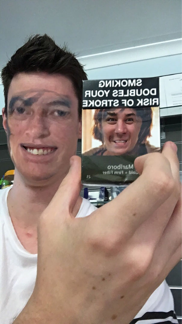 I Tried Using The New Snapchat Face Swap Filter With A Cigarette Carton