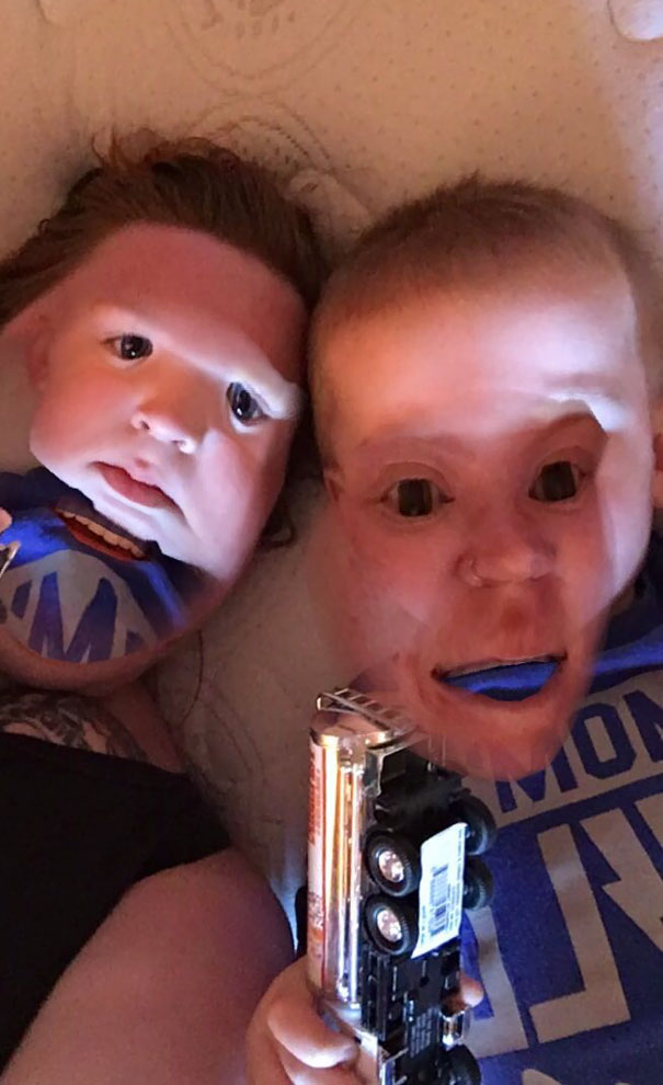 Tried The Snapchat Face Swap With My 3 Year Old