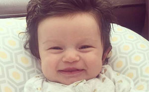 This Baby Was Born With A Full Head Of Hair, Here's How The Internet Reacted