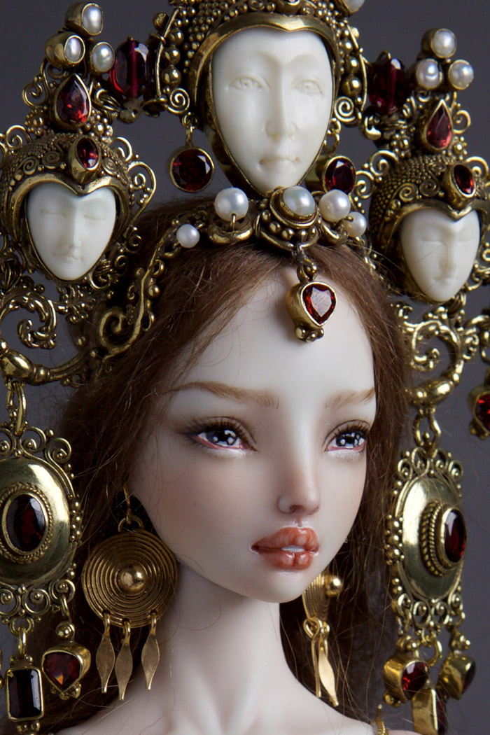 Handmade-adult-porcelain-enchanted-doll-marina-bychkova