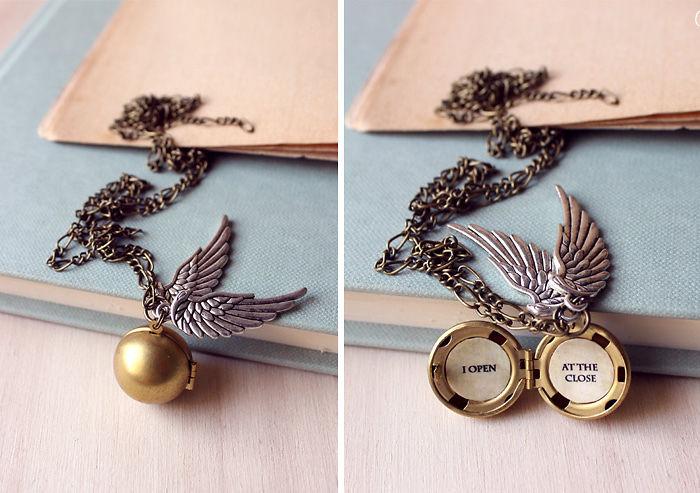 Harry Potter Golden Snitch Necklace Pendant