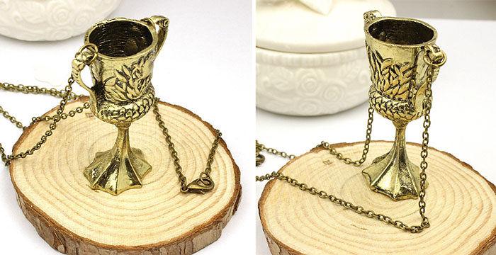 Helga Hufflepuff Cup Necklace