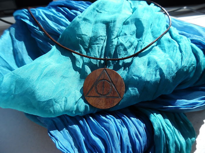Wooden Deathly Hallows Pendant