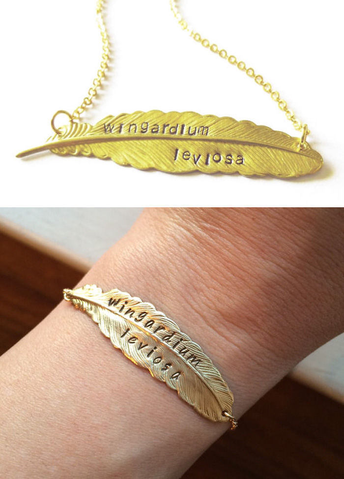 Wingardium Leviosa Necklace And Bracelet
