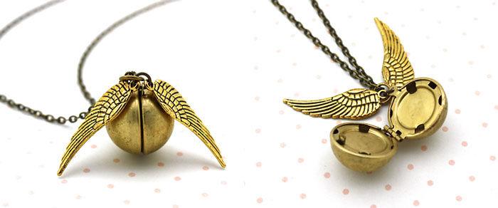 Golden Snitch Locket Necklace