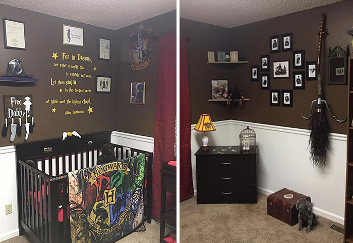 Parents Create 'Harry Potter' Nursery For Their Muggle-Born Little Wizard