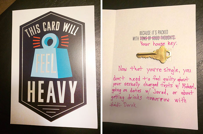 Guy Finds Out His Girlfriend Is Cheating, Creates This Birthday Card