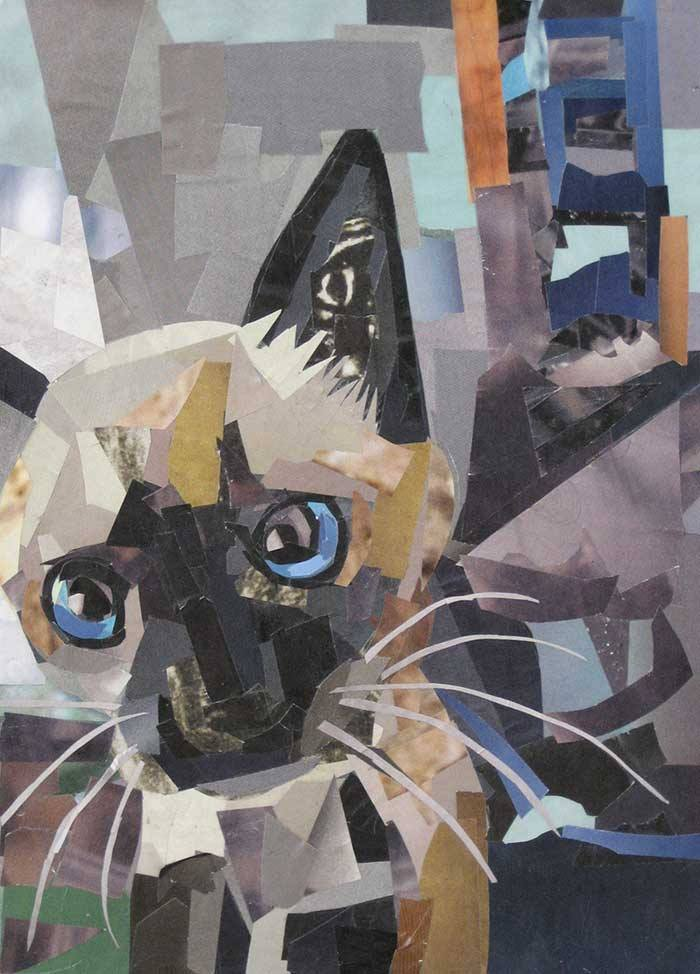 I Am Painting With Paper By Making Art Entirely From Magazine Strips
