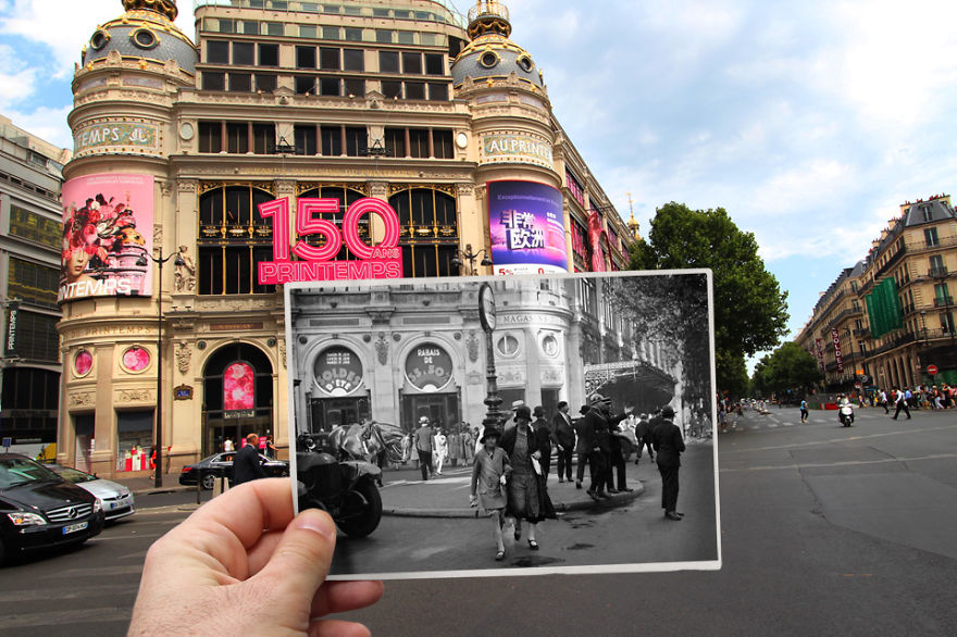 Imagen I Combined Old And New Photos Of Paris To Bring History To Life 10 880