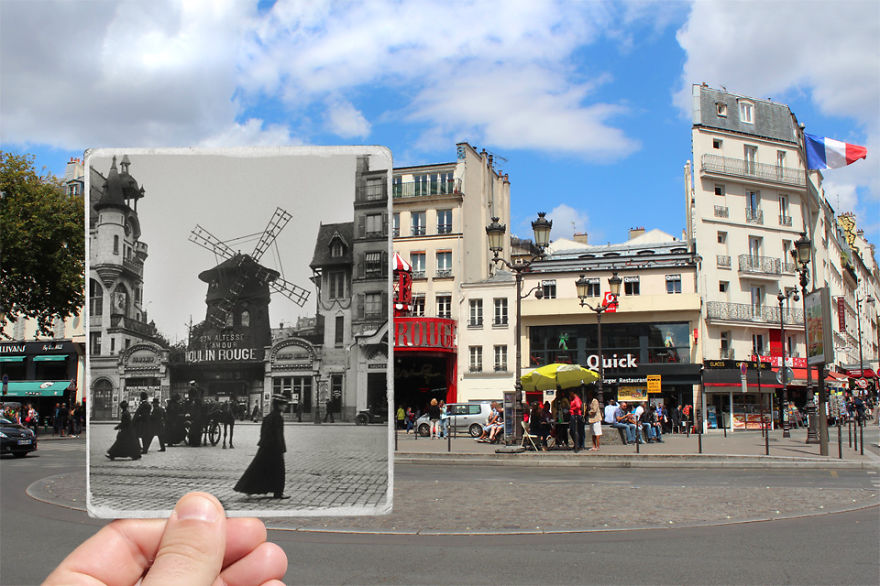 Imagen I Combined Old And New Photos Of Paris To Bring History To Life 11 880