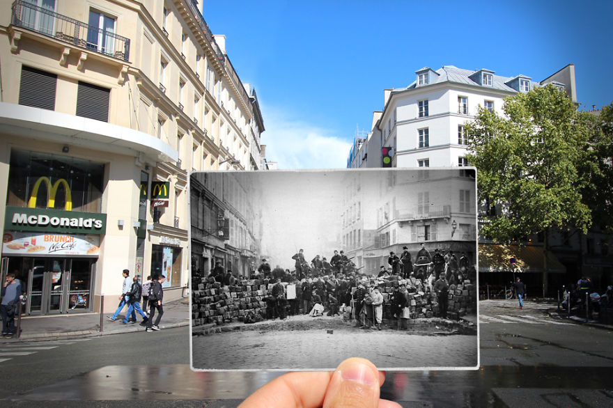 Imagen I Combined Old And New Photos Of Paris To Bring History To Life 13 880