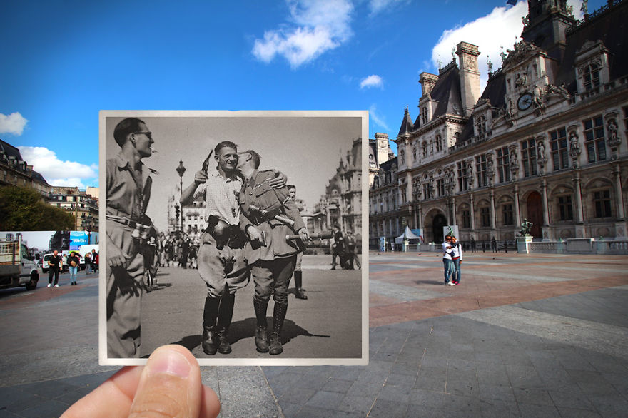 Imagen I Combined Old And New Photos Of Paris To Bring History To Life 3 880