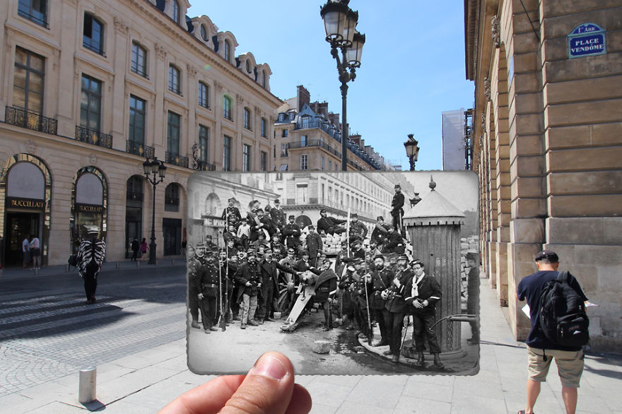 Imagen I Combined Old And New Photos Of Paris To Bring History To Life 4 880