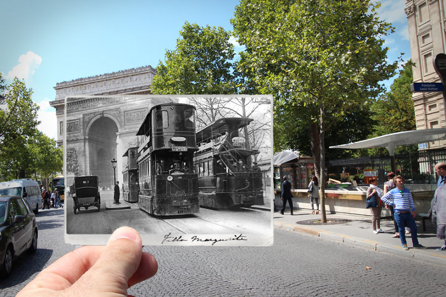 Imagen I Combined Old And New Photos Of Paris To Bring History To Life 7 880