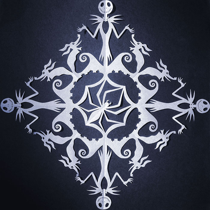 I Create Highly Detailed Pop Culture Themed Paper Cut Snowflakes