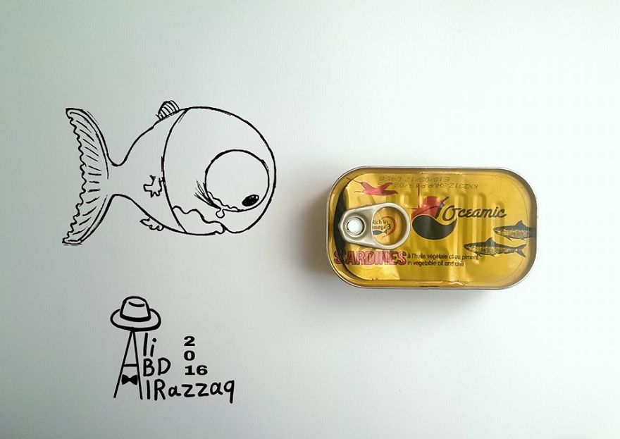 I Draw Interactive Illustrations Using Everyday Objects (Part 5)