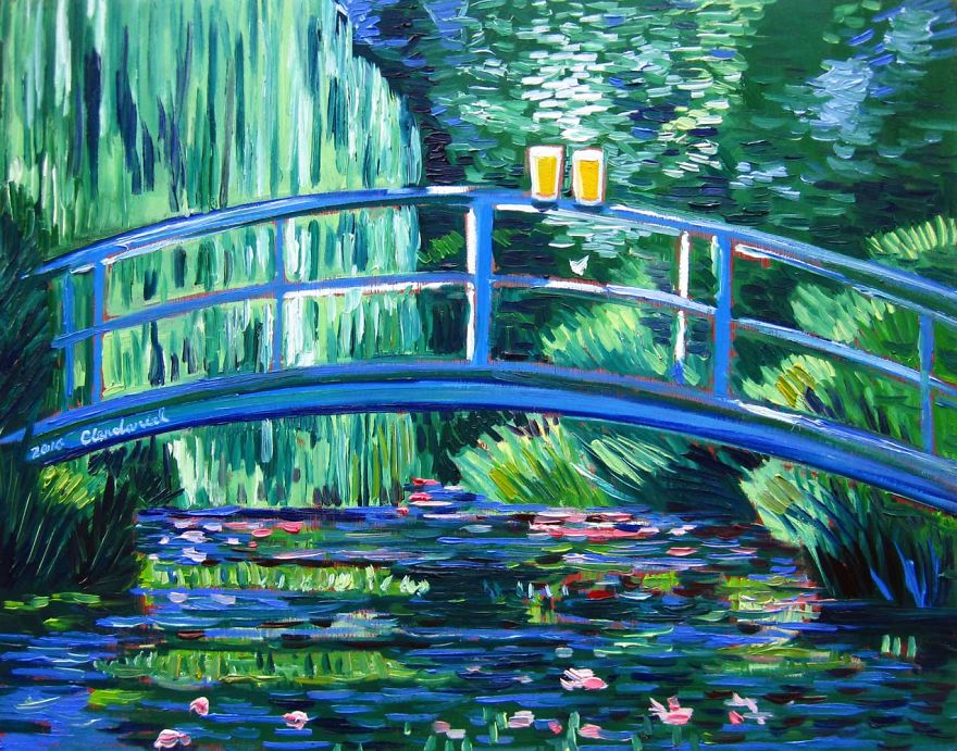 Inspired By Claude Monet. Pints At The Water Lily Pond