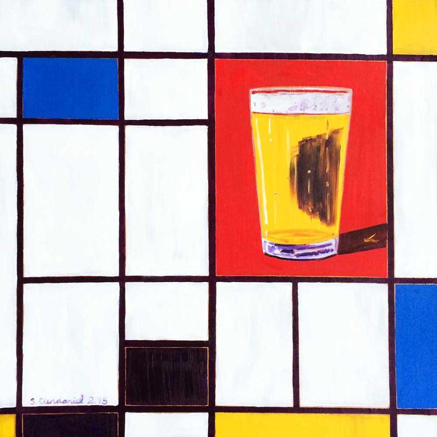 Piet Mondrian's Pint