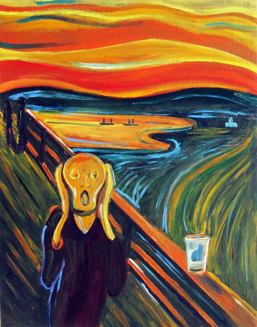 Edvard Munch's The Scream... Over An Empty Pint