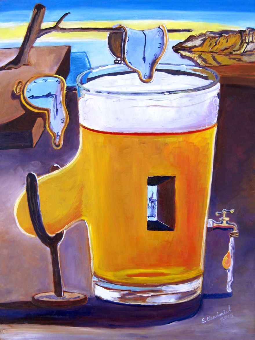 Inspired By Salvador Dali. Pint Of Everlasting Effervescence