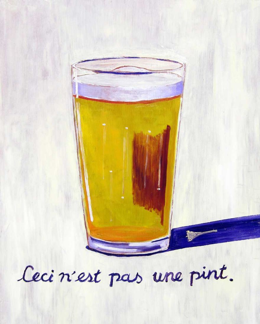 Ceci N'est Pas Une Pint. Inspired By René Magritte