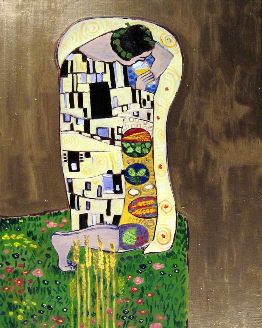 The Sip. Inspired By Gustav Klimt