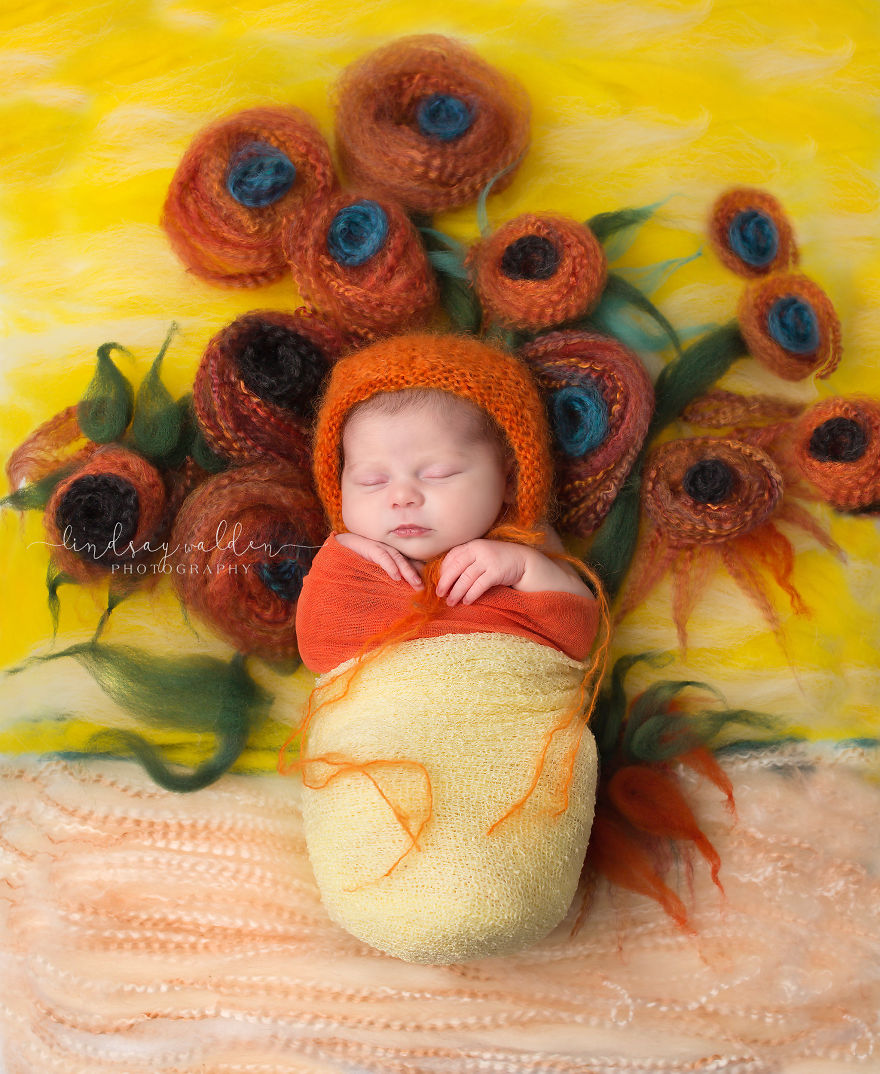 I Recreate Famous Paintings Together With Newborn Babies ...