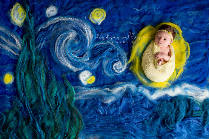 I Recreate Famous Paintings Together With Newborn Babies