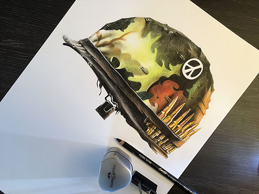 I Recreated 15 Movie Posters With Colouring Pencils
