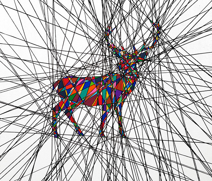Beauty Within Chaos: I Draw Animals Where Lines Intersect