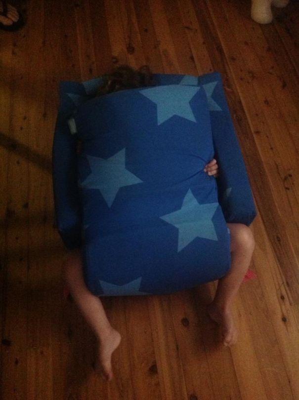 My Niece Playing Hide And Seek