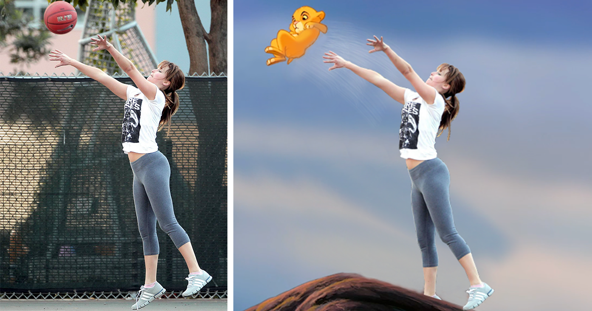 jennifer lawrence plays basketball and the photoshop games
