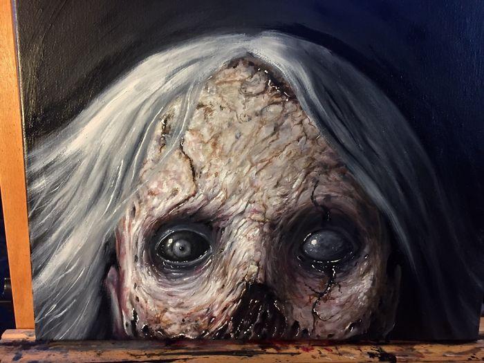 Latest Horror Painting I've Created