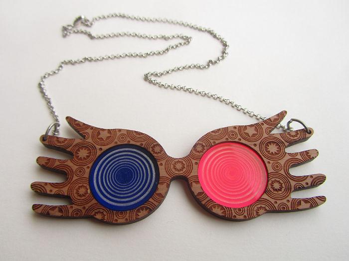 Luna Lovegood Glasses Necklace
