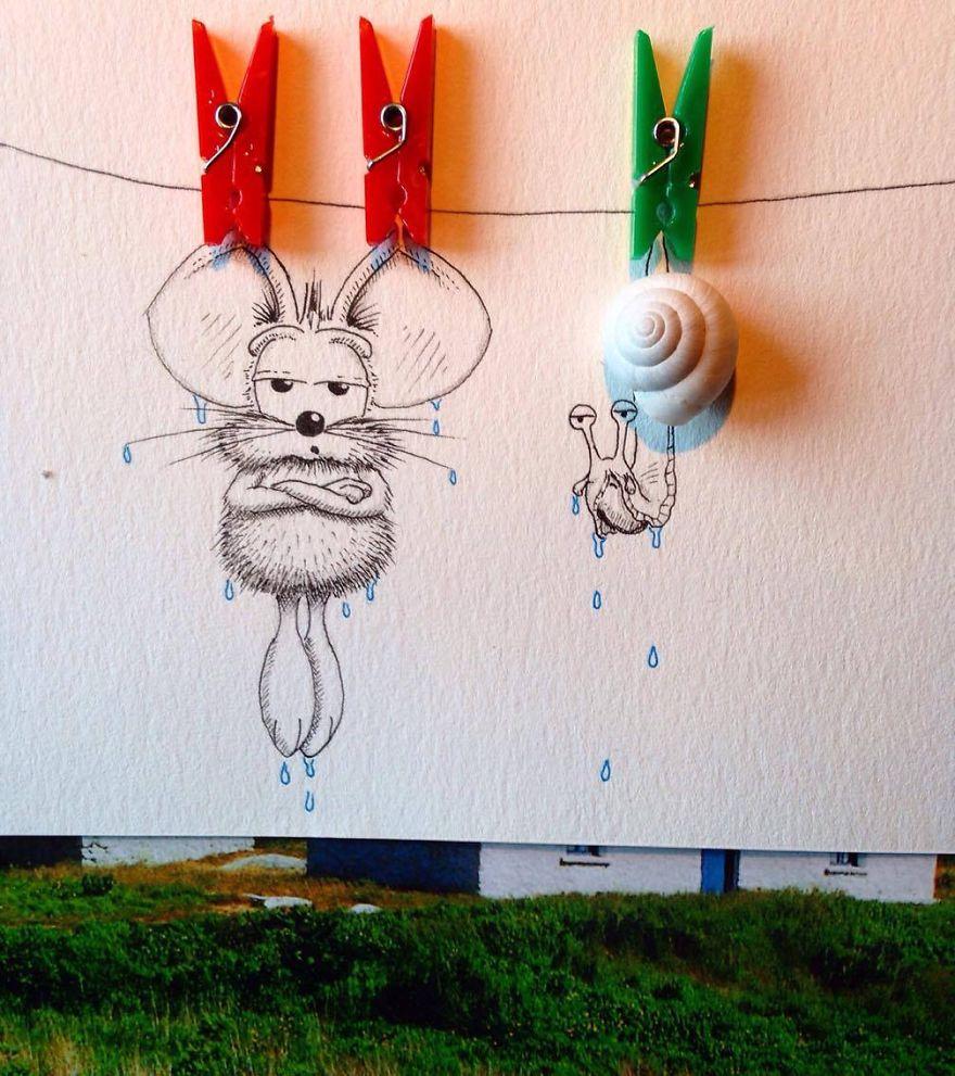 Смешные идеи для рисунка, детские