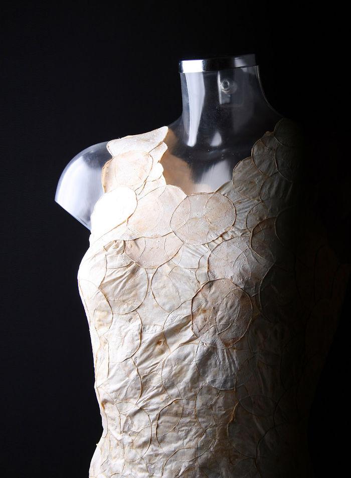 Mycotex Is A Dress Made Of Mushroom Mycelium