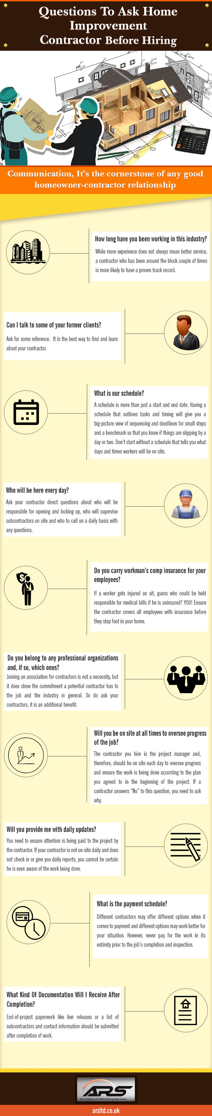 Questions To Ask Home Improvement Contractor Before Hiring