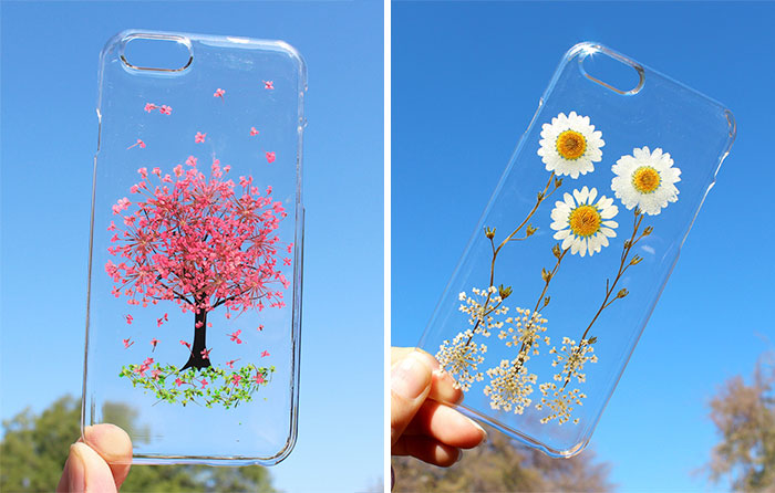 Real Flower Mobile Phone Cases To Celebrate Spring