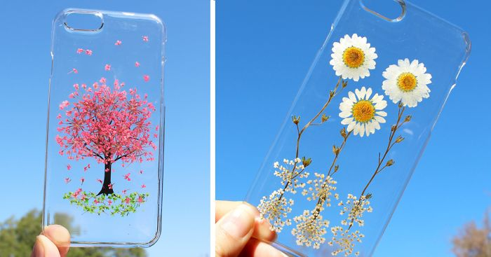best loved 1e038 9f6b3 Real Flower Mobile Phone Cases To Celebrate Spring | Bored Panda