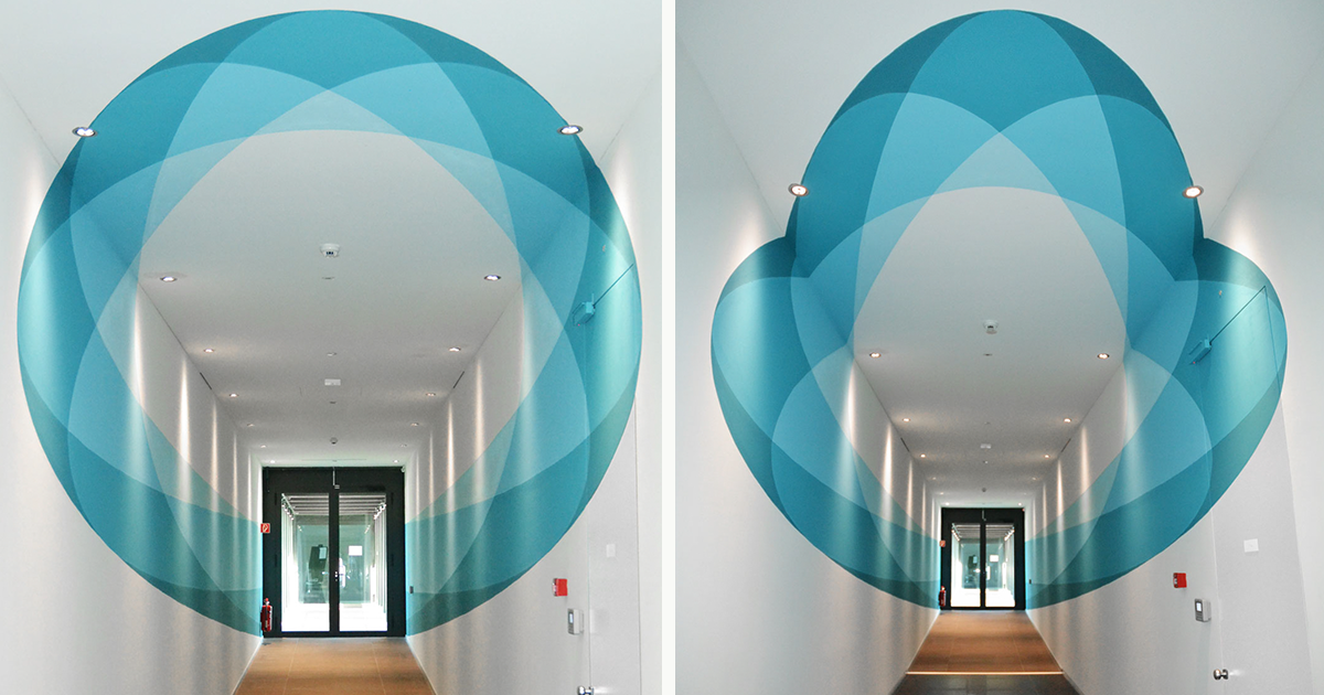 Our Mural Changes Shape As You Walk Through It