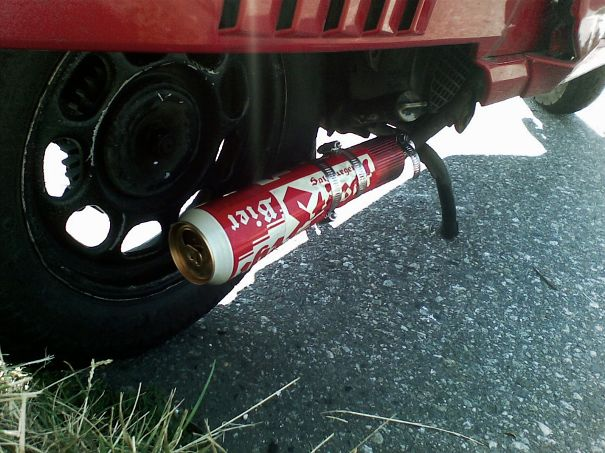 Beer-can Exhaust