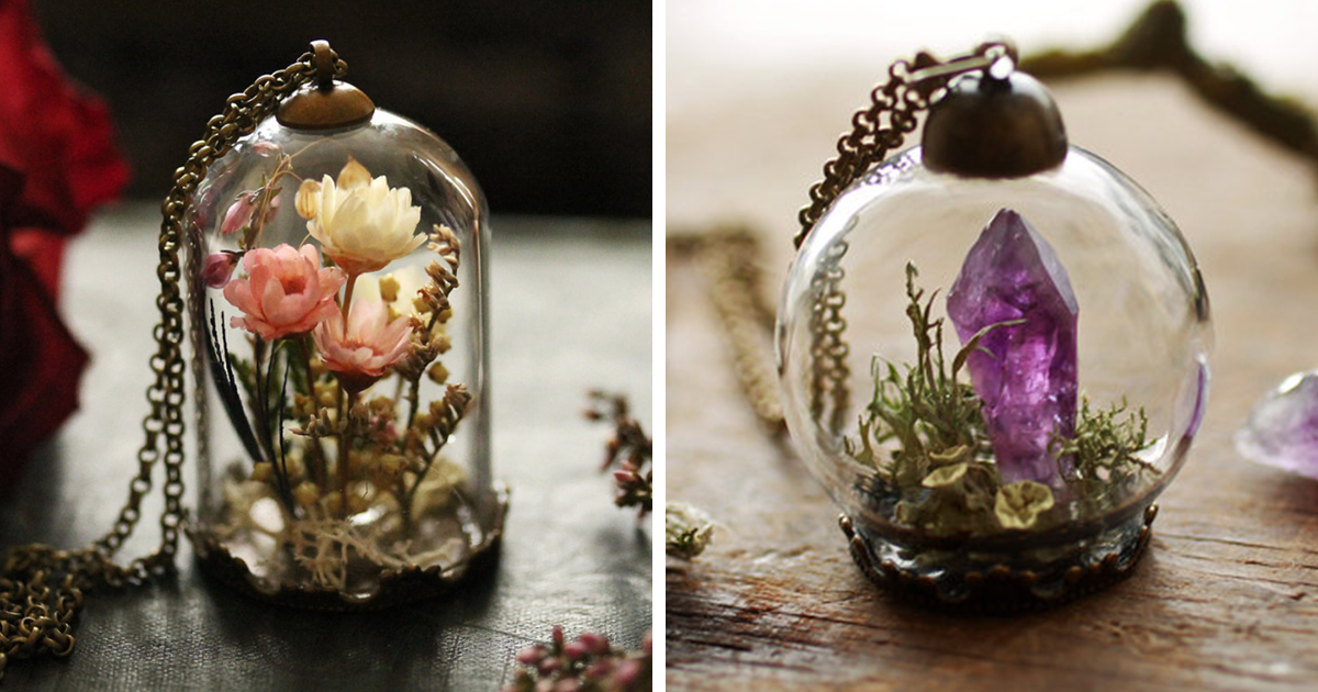 Terrarium Jewelry By Ruby Robin Lets You Take Tiny Bits Of Nature With You Bored Panda