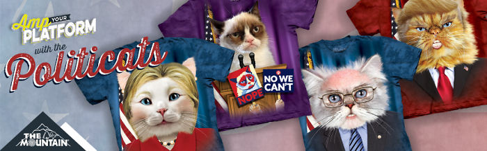 The Mountain® Puts A Furry Twist On Supporting Your Favorite Political Candidate