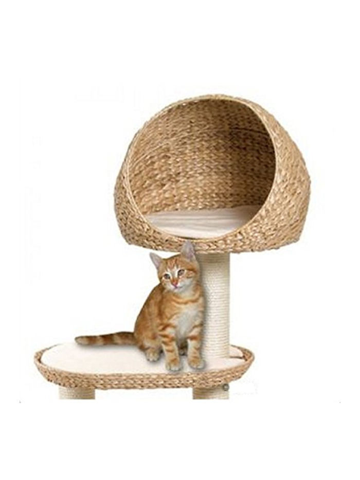 The Hand Woven Banana Leaf Cat Tree