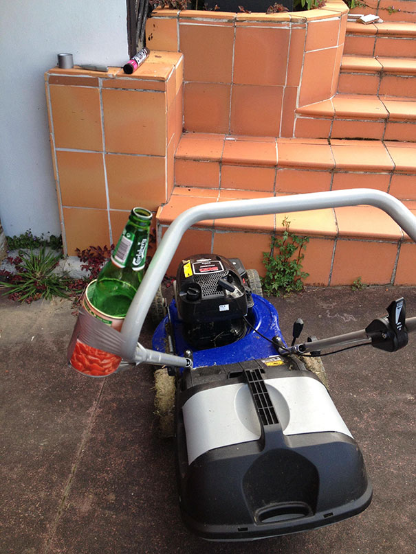 Drink Holder For Your Lawn Mower