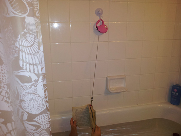 Never Drop A Book On The Bath Again. My 8-Year-Old Daughter's Invention