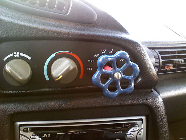 My Dad's Solution When A Control Knob Broke Off In My Car