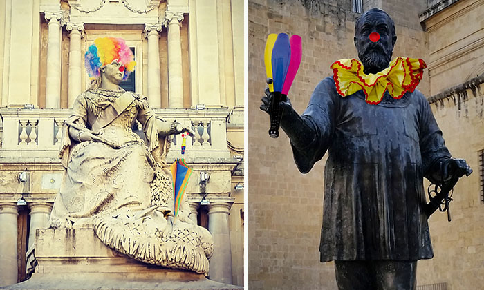 I Turn Boring Monuments Into Clowns