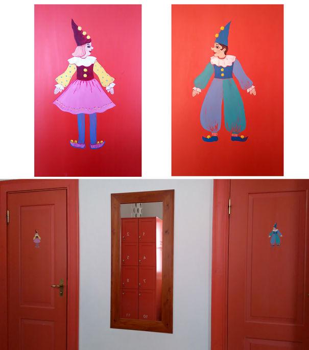 Cute Creatures On The Doors In Tartu Toy Museum